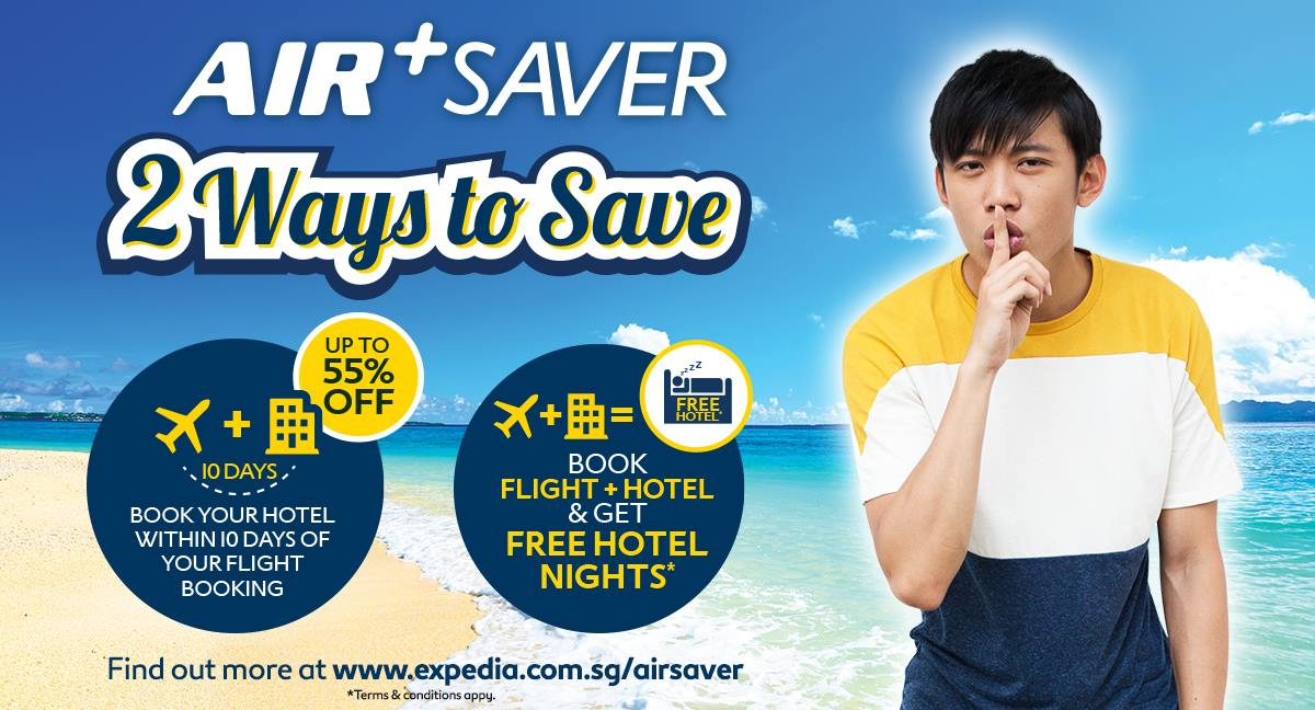 Expedia Singapore Air+ Saver Book Flight & Hotel to get FREE Hotel Nights - Why Not Deals 2 & Promotions