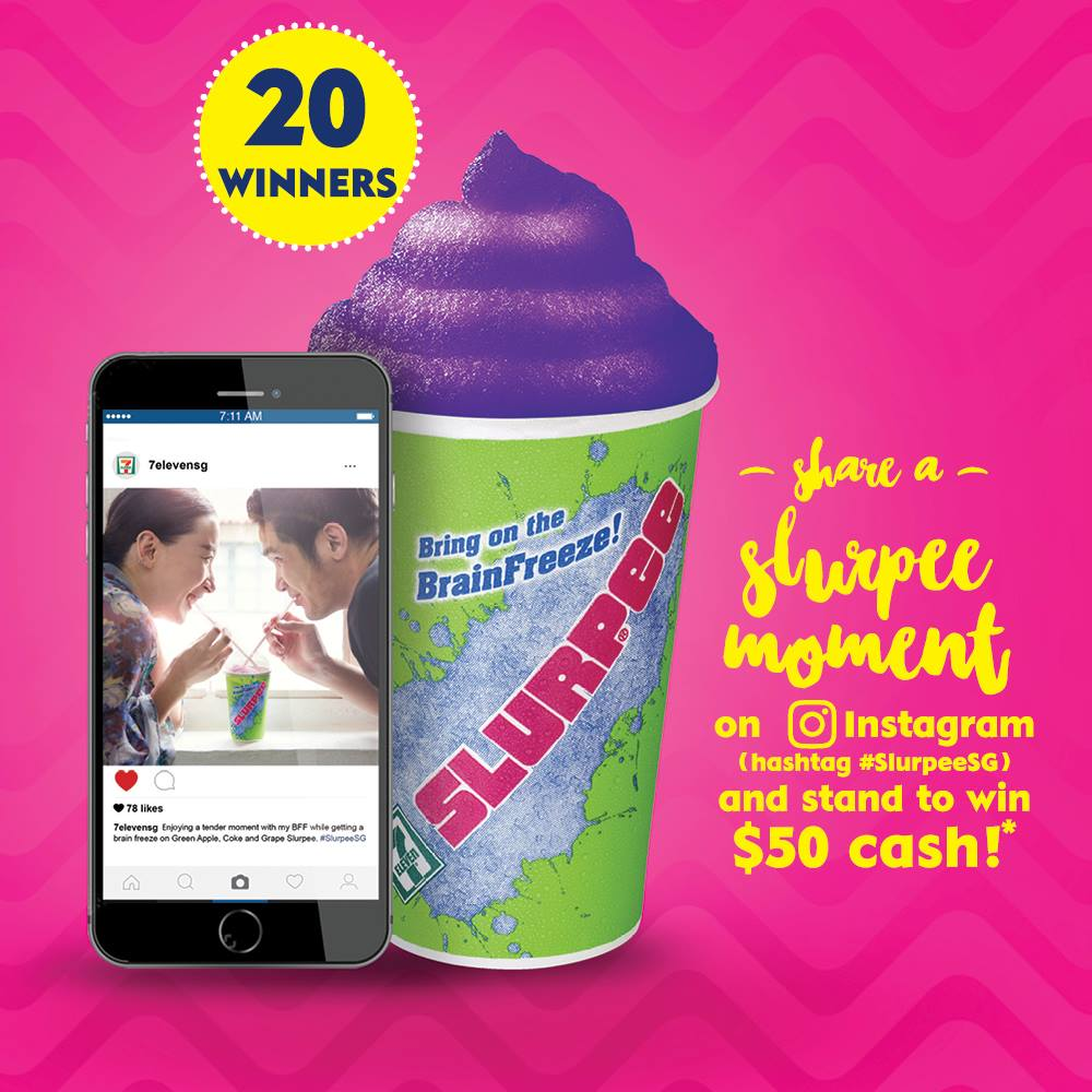 7-Eleven Slurpee Moment Instagram Singapore Contest ends 9 Aug 2016 | Why Not Deals & Promotions