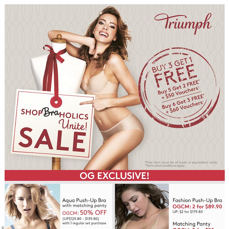 OG Triumph Lingerie ShopBraHolics Sale Singapore Promotion   Why Not Deals 1 & Promotions