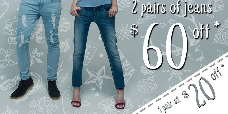 Denizen Singapore 2 Pairs of Jeans at $60 Off Festive Season Promotion | Why Not Deals 1 & Promotions