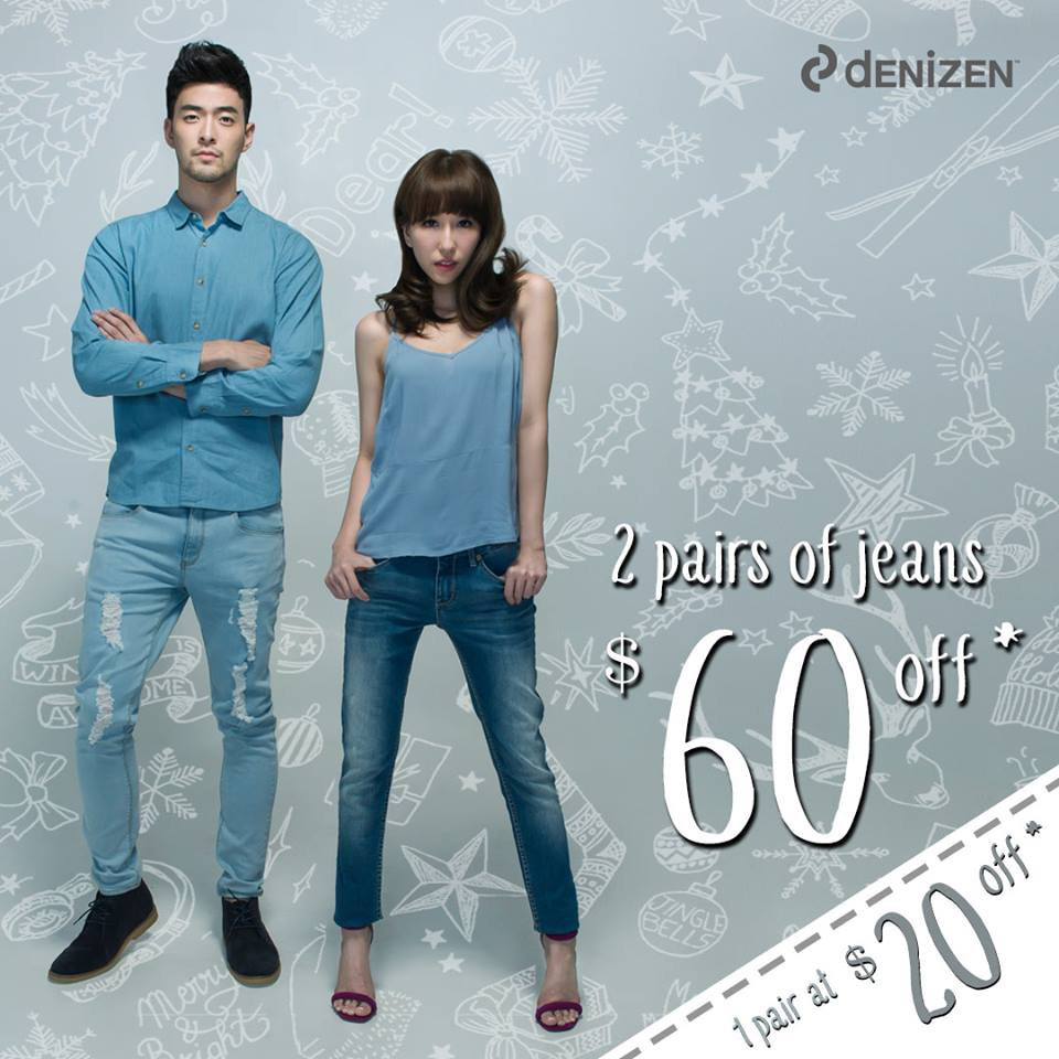 Denizen Singapore 2 Pairs of Jeans at $60 Off Festive Season Promotion | Why Not Deals & Promotions