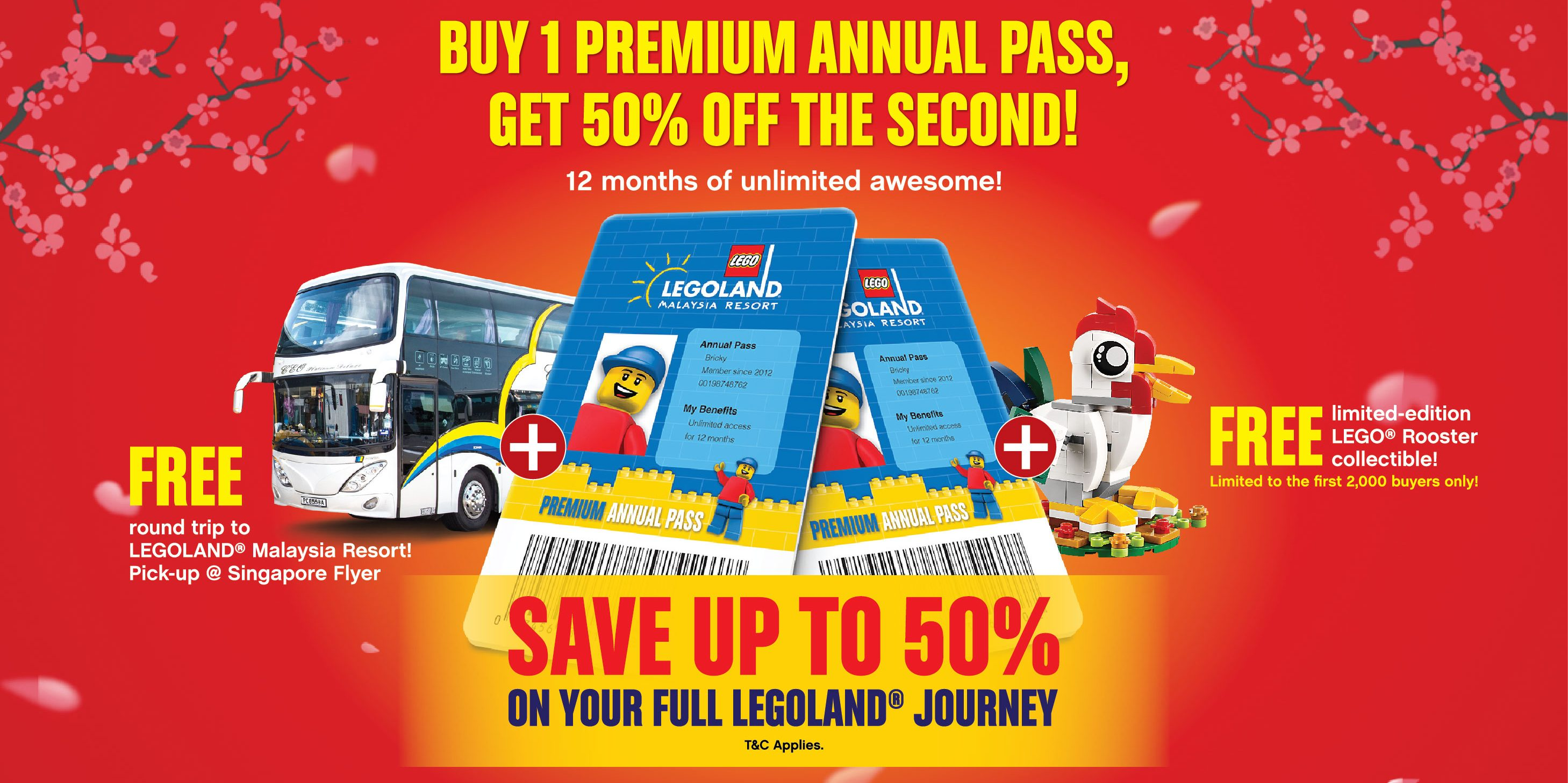 LEGOLAND Malaysia Lunar New Year Annual Pass Flash Deal 50% Off Promotion While Stocks Last | Why Not Deals & Promotions