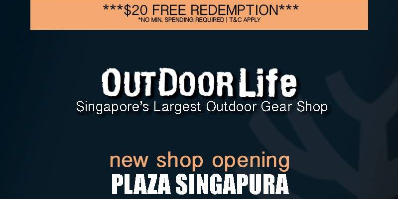Outdoor Life Singapore Like & Comment to Win $20 FREE Redemption First 100 Only | Why Not Deals 1 & Promotions