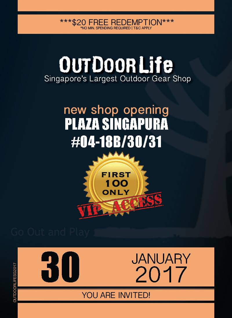 Outdoor Life Singapore Like & Comment to Win $20 FREE Redemption First 100 Only | Why Not Deals & Promotions
