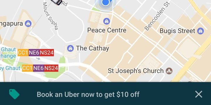Uber Singapore $10 Off When Booking Through Google Maps Mobile App Promotion   Why Not Deals & Promotions