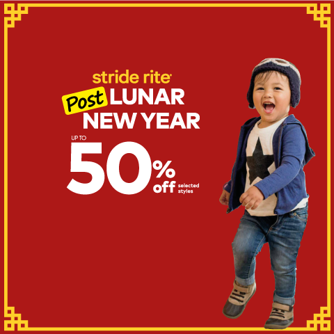 Stride Rite Singapore Post Lunar New Year Sale Up to 50% Off Promotion   Why Not Deals & Promotions