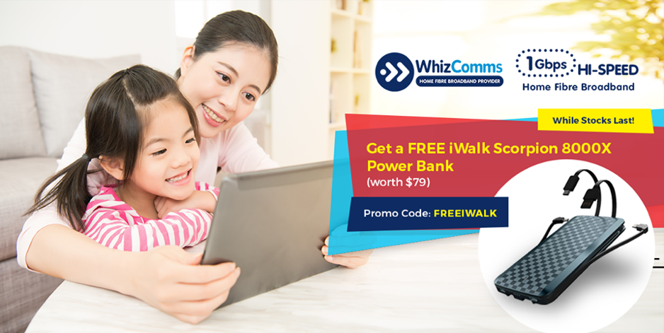 WhizComms Singapore FREE iWalk Scorpion Power Bank when you sign up by 17 May 2017 | Why Not Deals & Promotions