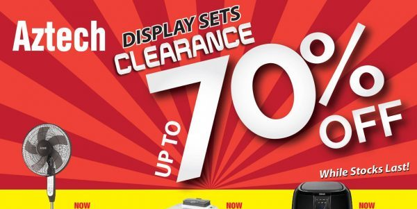 Aztech Singapore Display Units Clearance Sale Up to 70% Off Promotion While Stocks Last | Why Not Deals 2 & Promotions