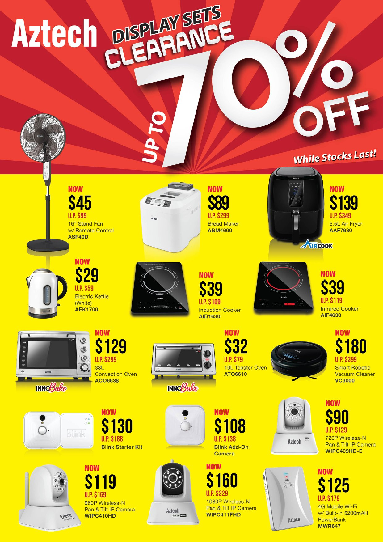 Aztech Singapore Display Units Clearance Sale Up to 70% Off Promotion While Stocks Last | Why Not Deals & Promotions
