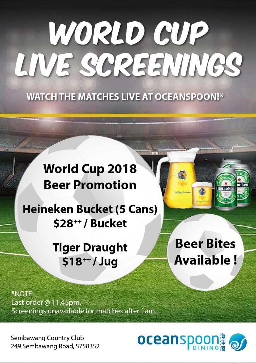 Ocean Spoon Dining Singapore FIFA World Cup 2018 Live Match Screenings with Promotions   Why Not Deals & Promotions