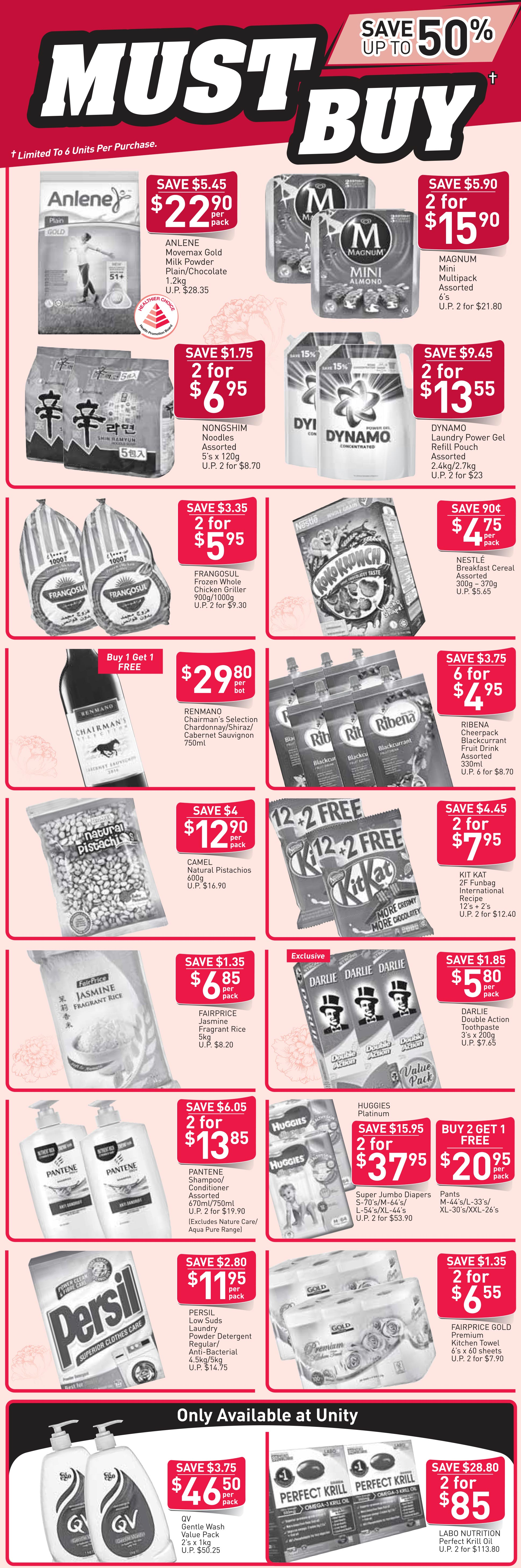 NTUC FairPrice Singapore Your Weekly Saver Promotion 31 Jan - 13 Feb 2019   Why Not Deals 1 & Promotions