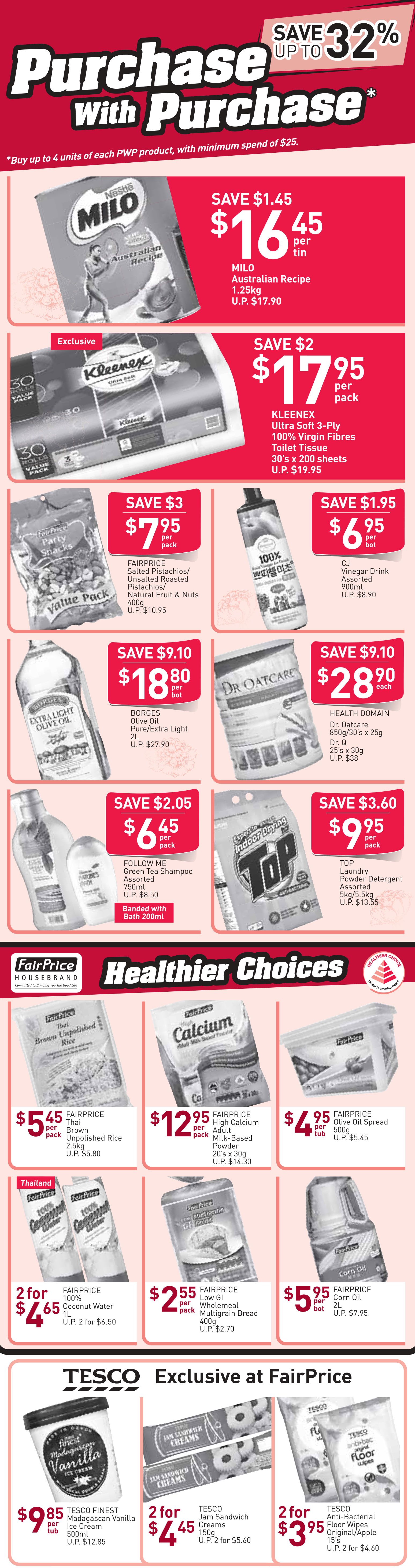NTUC FairPrice Singapore Your Weekly Saver Promotion 31 Jan - 13 Feb 2019   Why Not Deals 2 & Promotions