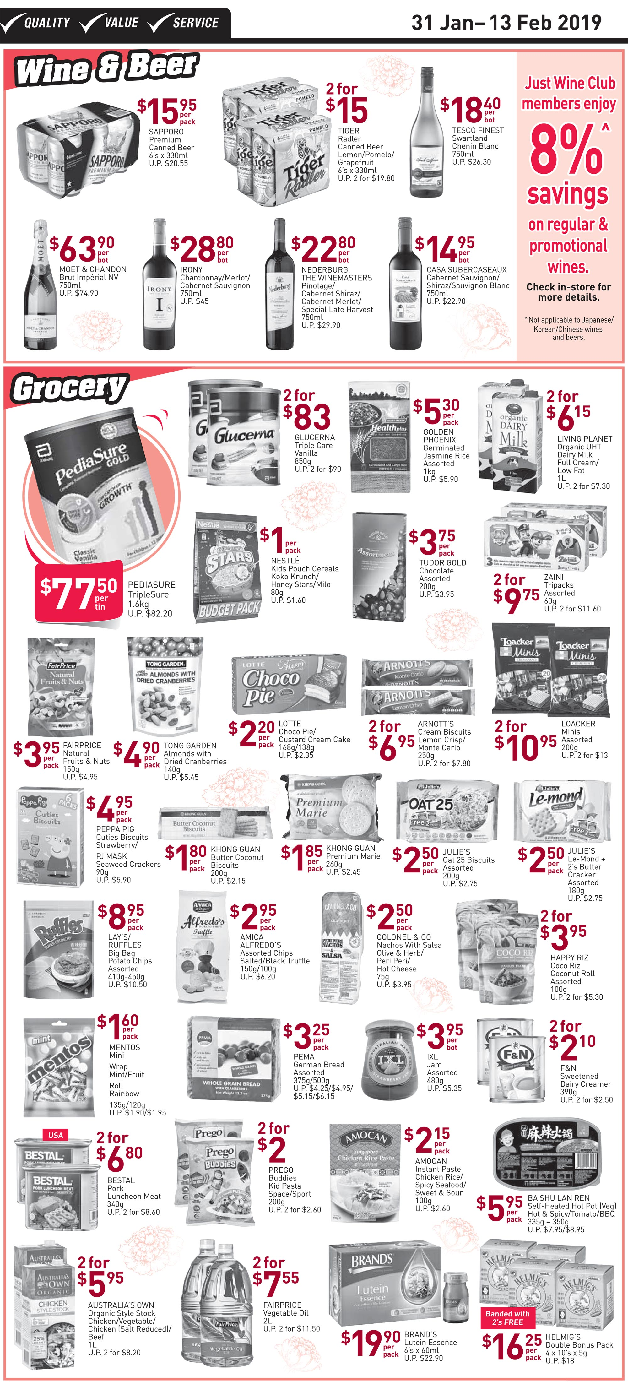 NTUC FairPrice Singapore Your Weekly Saver Promotion 31 Jan - 13 Feb 2019   Why Not Deals 4 & Promotions