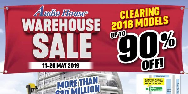Audio House Singapore Warehouse Sale Up to 90% Off Promotion 11-26 May 2019 | Why Not Deals 4 & Promotions