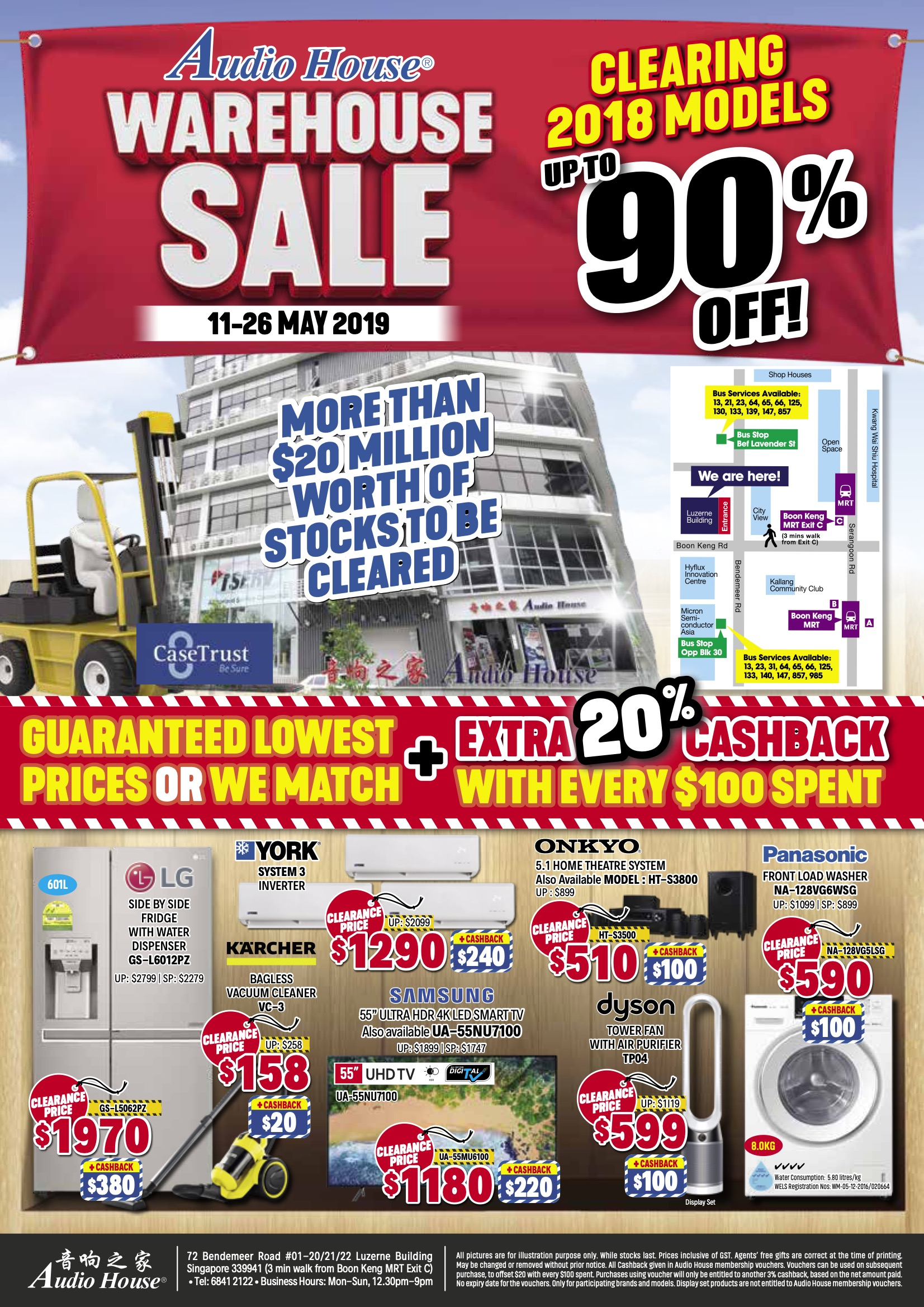 Audio House Singapore Warehouse Sale Up to 90% Off Promotion 11-26 May 2019 | Why Not Deals & Promotions