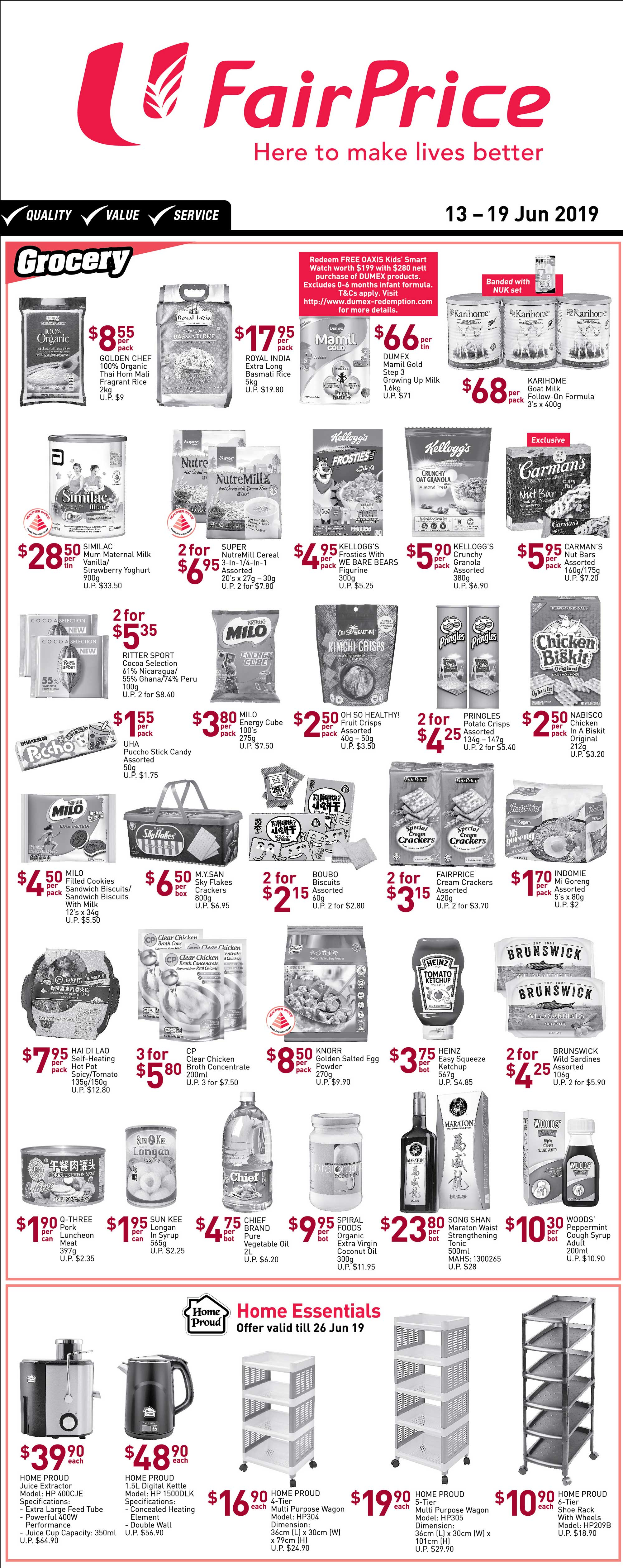 NTUC FairPrice Singapore Your Weekly Saver Promotion 13-19 Jun 2019 | Why Not Deals 2 & Promotions