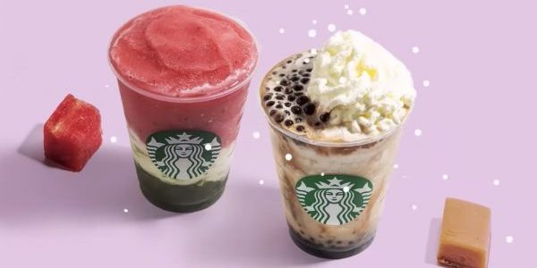 Starbucks Singapore Watermelon & Lychee Aloe Frappuccino or Dark Caramel Coffee Sphere Frappuccino 1-for-1 Promotion 8-12 Jul 2019 | Why Not Deals & Promotions