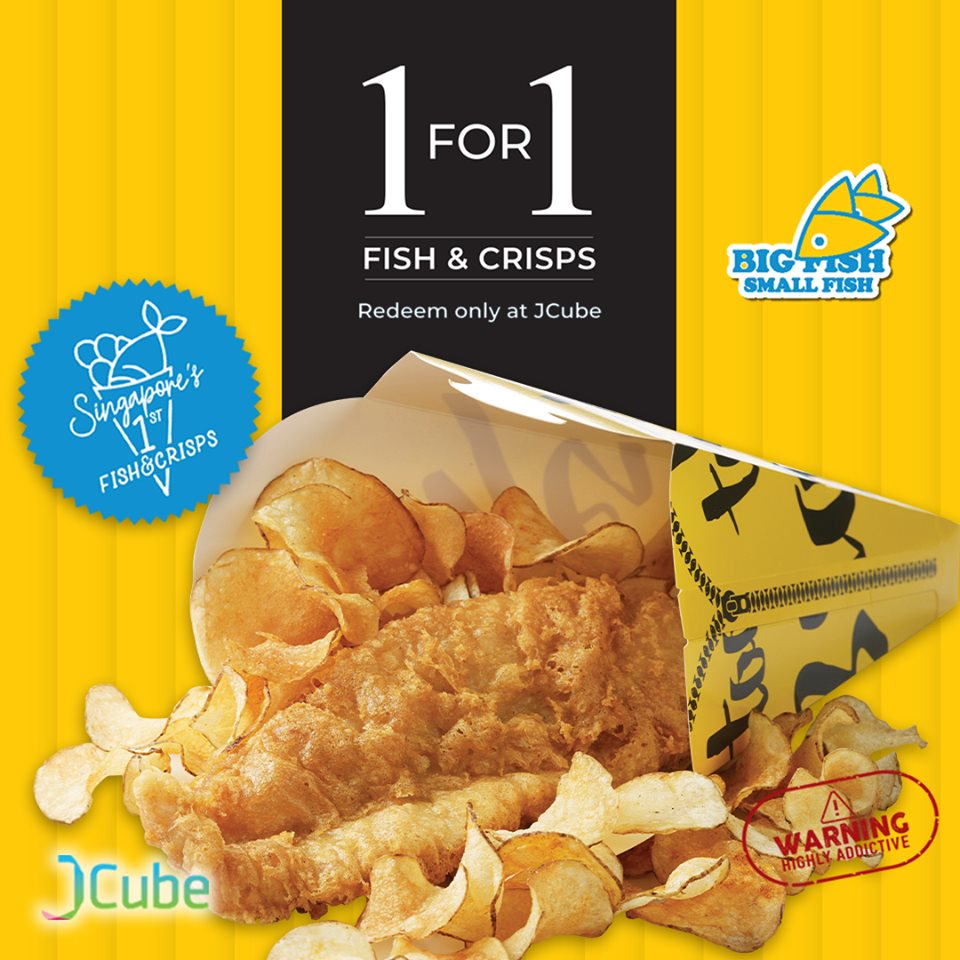 Big Fish Small Fish Singapore 1-for-1 Fish & Crisps Promotion ends 30 Sep 2019 | Why Not Deals 1 & Promotions