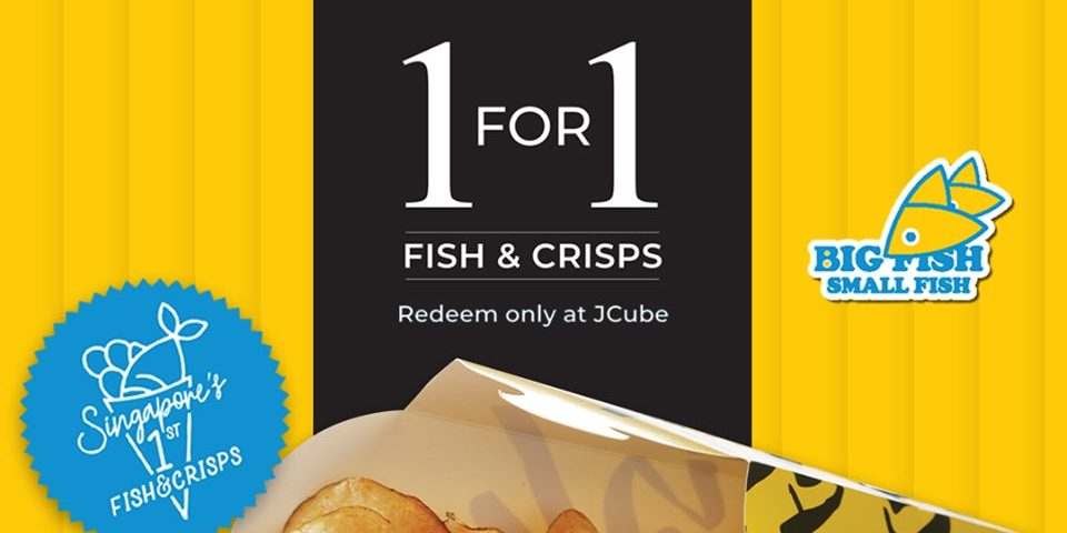Big Fish Small Fish Singapore 1-for-1 Fish & Crisps Promotion ends 30 Sep 2019 | Why Not Deals & Promotions