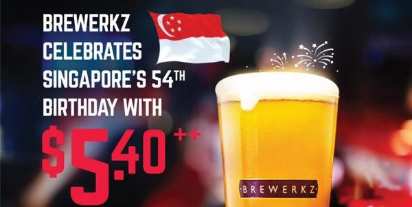 Brewerkz Singapore $5.40++ Pints National Day Promotion ends 31 Aug 2019 | Why Not Deals 1 & Promotions