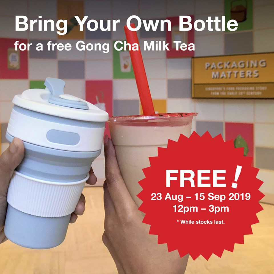Gong Cha x National Museum of Singapore BYOB & Get FREE Gong Cha Milk Tea Promotion 23 Aug - 15 Sep 2019 | Why Not Deals & Promotions