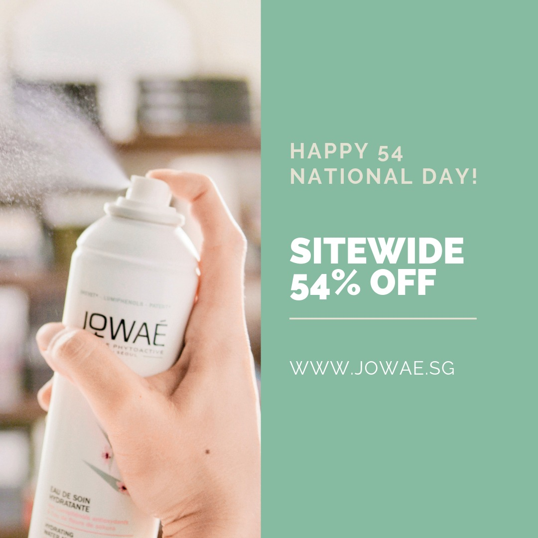 JOWAE Singapore Celebrates National Day with 54% Off Promotion ends 31 Aug 2019   Why Not Deals & Promotions