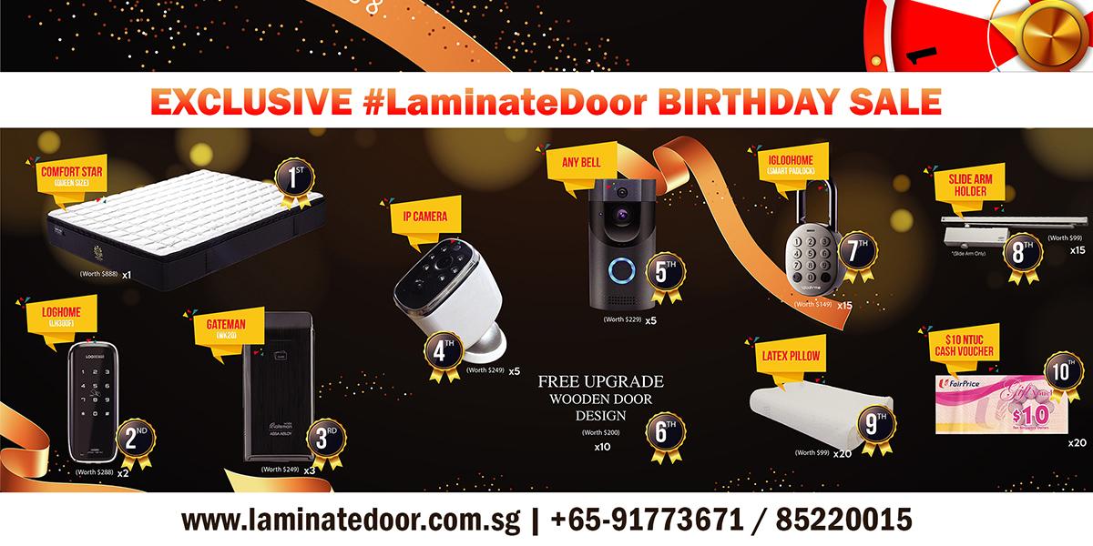 Laminate Door Singapore Autumn Promotion Sale for HDB Door, Gate & Digital Door Locks 1-30 Sep 2019 | Why Not Deals 1 & Promotions