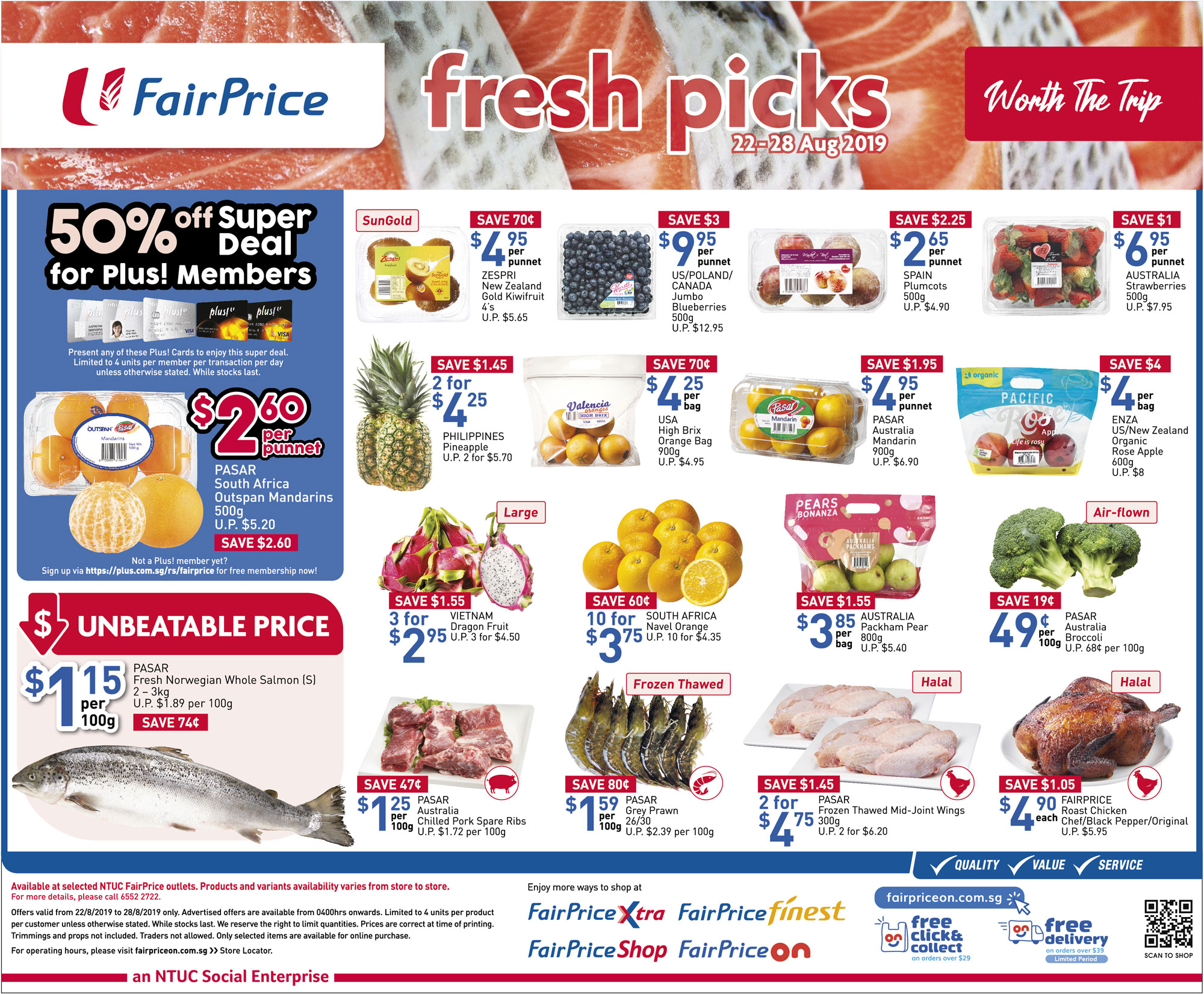 NTUC FairPrice Singapore Your Weekly Saver Promotion 22-28 Aug 2019 | Why Not Deals 2 & Promotions