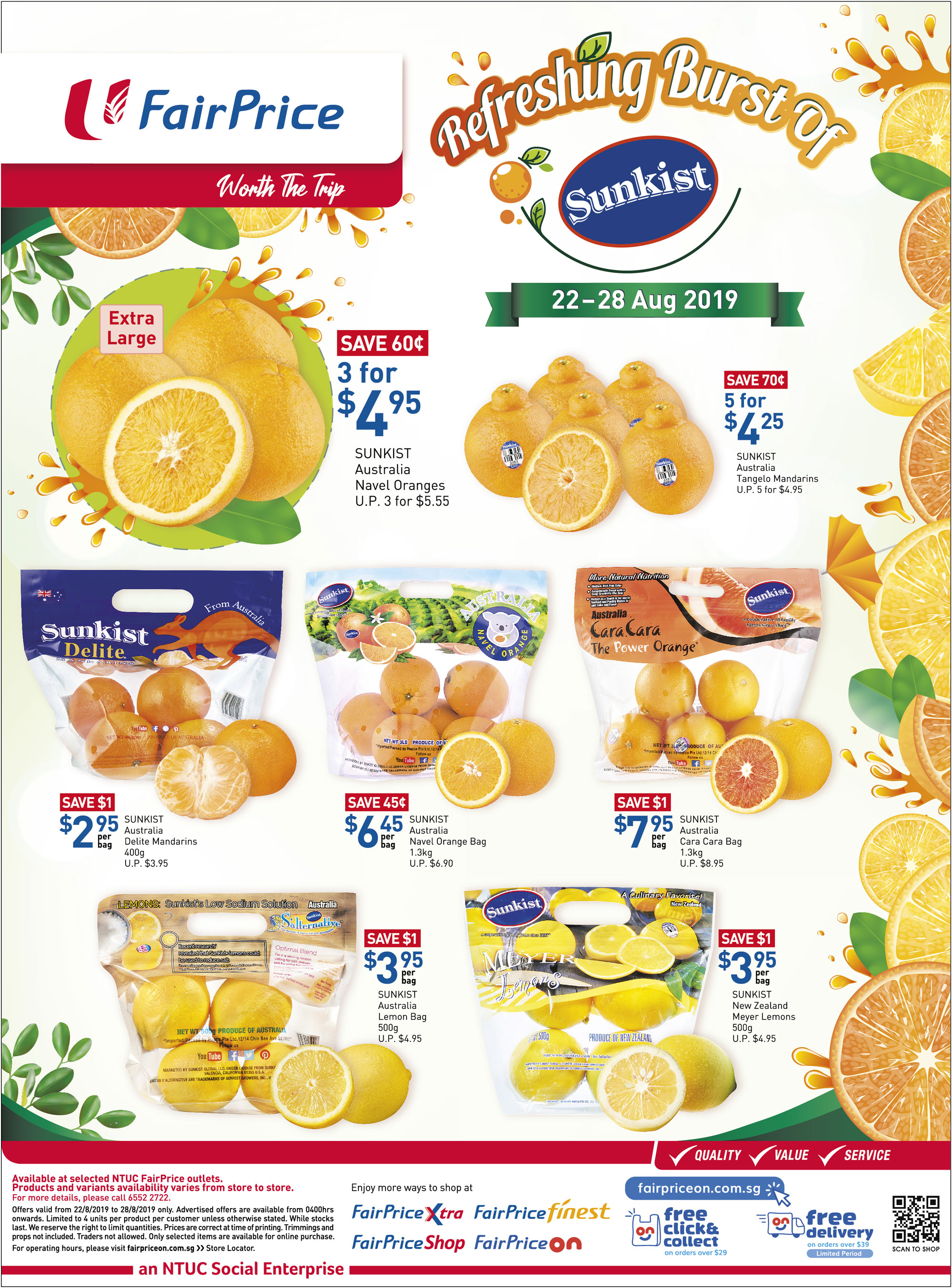 NTUC FairPrice Singapore Your Weekly Saver Promotion 22-28 Aug 2019 | Why Not Deals 4 & Promotions