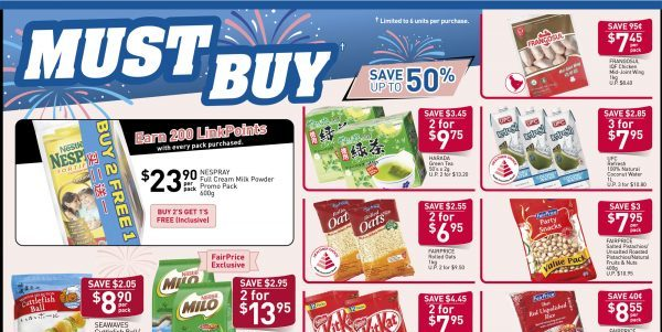 NTUC FairPrice Singapore Your Weekly Saver Promotion 22-28 Aug 2019 | Why Not Deals 7 & Promotions