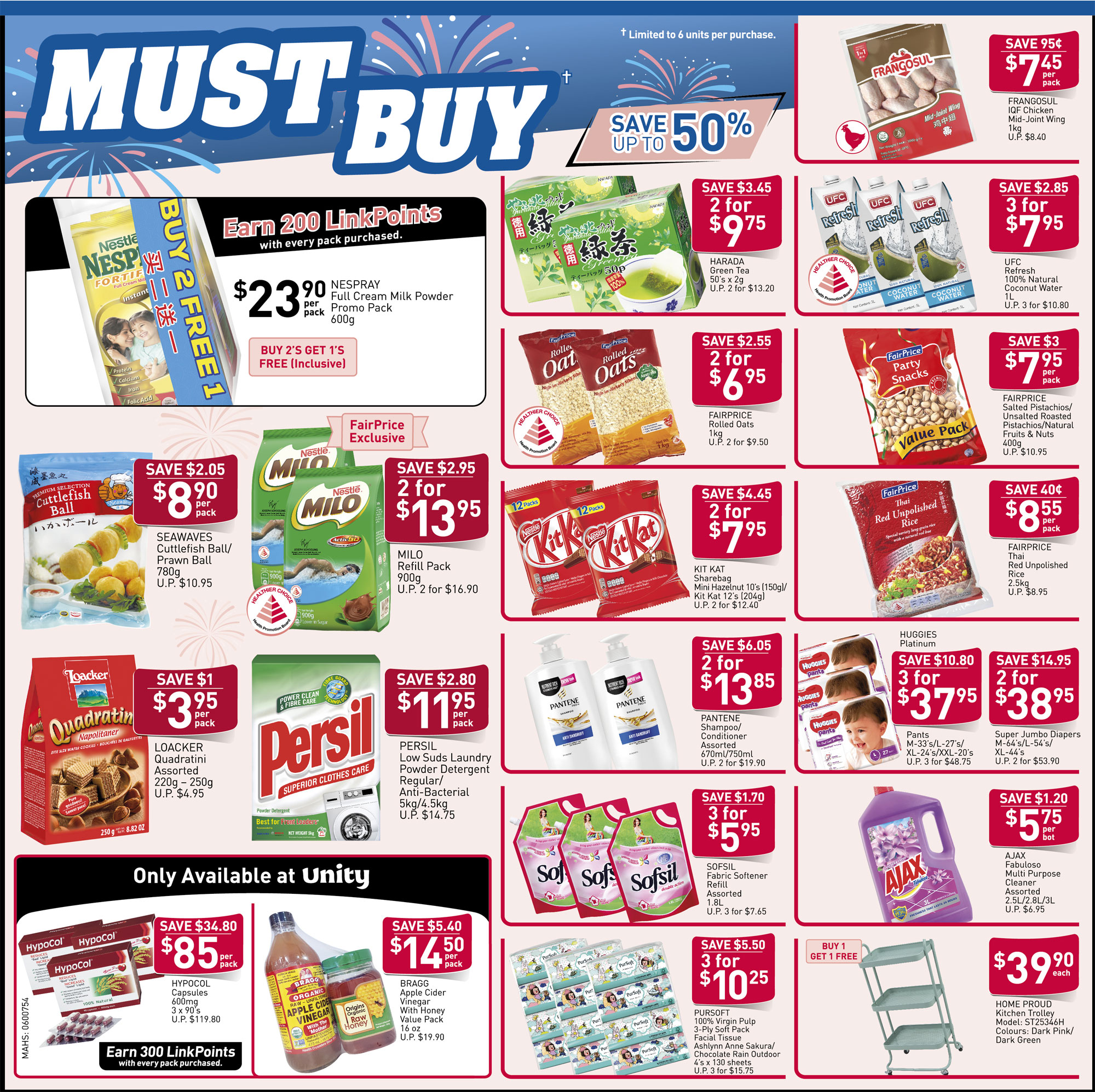 NTUC FairPrice Singapore Your Weekly Saver Promotion 22-28 Aug 2019 | Why Not Deals & Promotions