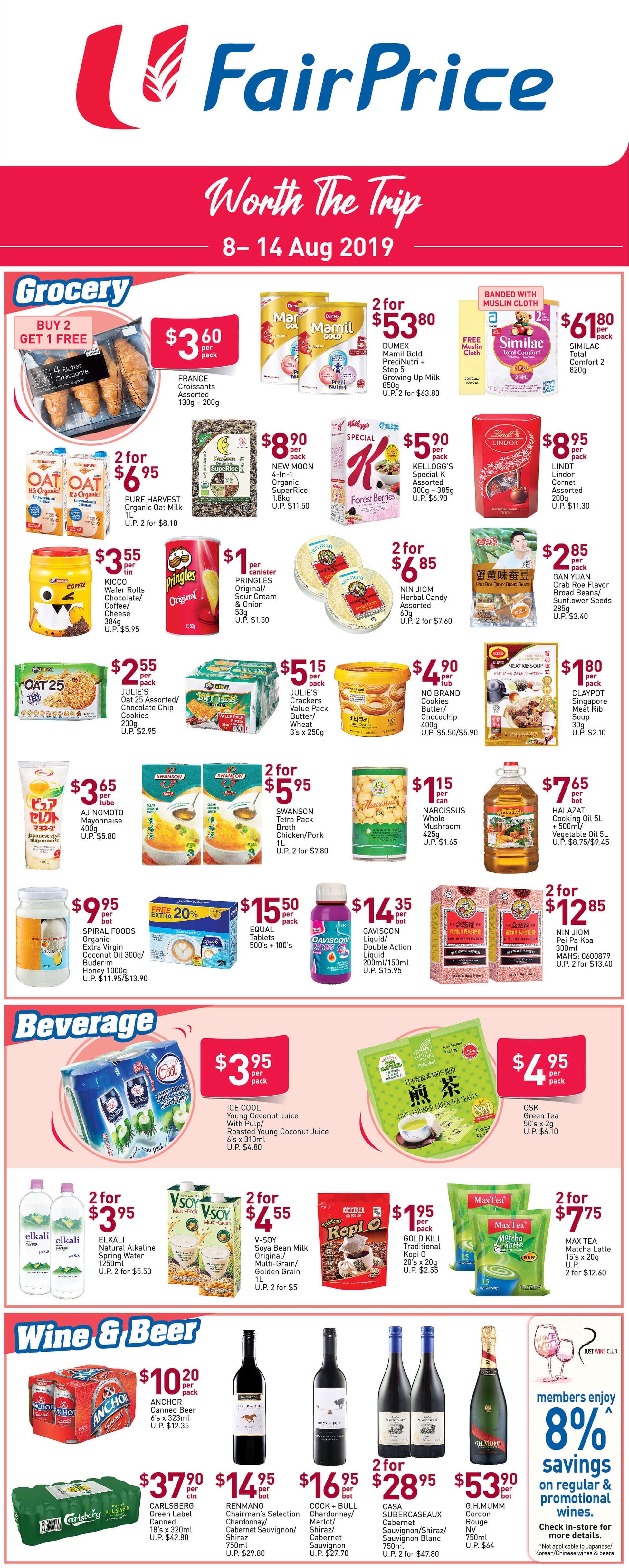 NTUC FairPrice Singapore Your Weekly Saver Promotion 8-14 Aug 2019   Why Not Deals 2 & Promotions