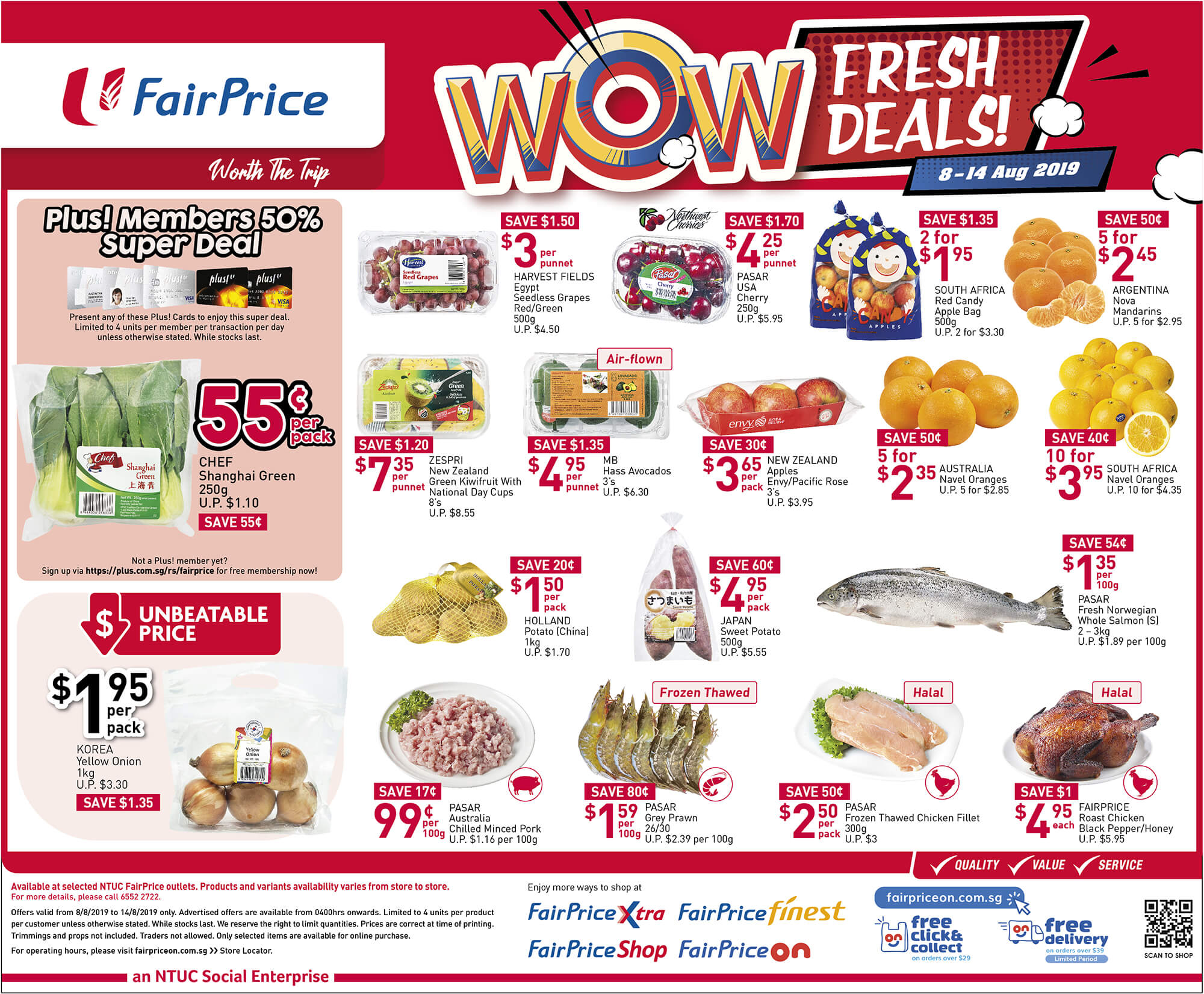 NTUC FairPrice Singapore Your Weekly Saver Promotion 8-14 Aug 2019   Why Not Deals 4 & Promotions