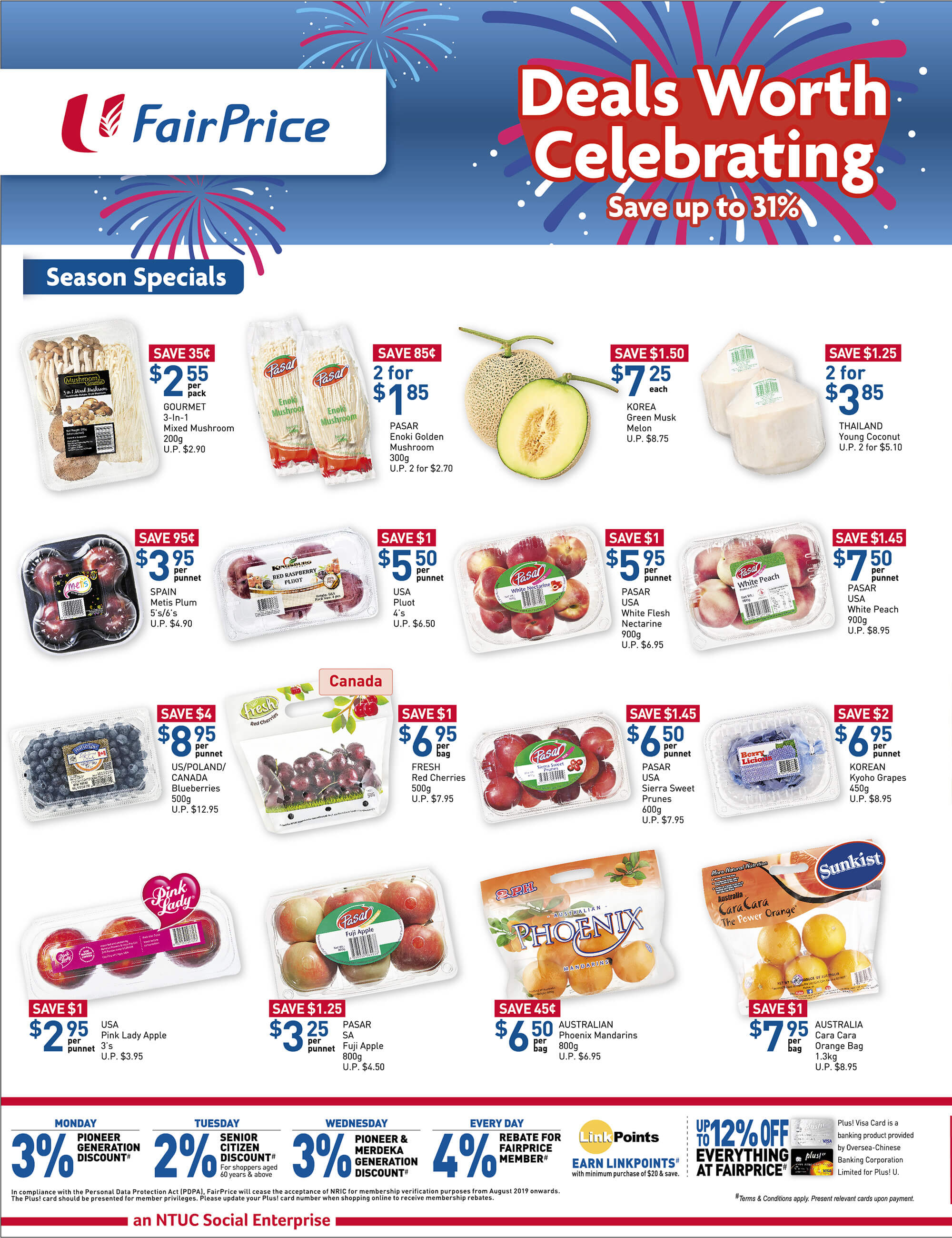 NTUC FairPrice Singapore Your Weekly Saver Promotion 8-14 Aug 2019   Why Not Deals 6 & Promotions