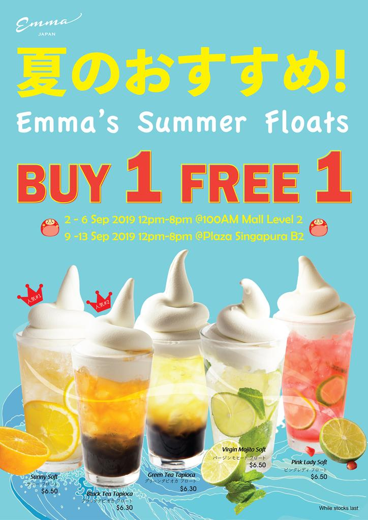Emma Singapore Summer Floats Buy 1 Free 1 Promotion 2-13 Sep 2019 | Why Not Deals & Promotions