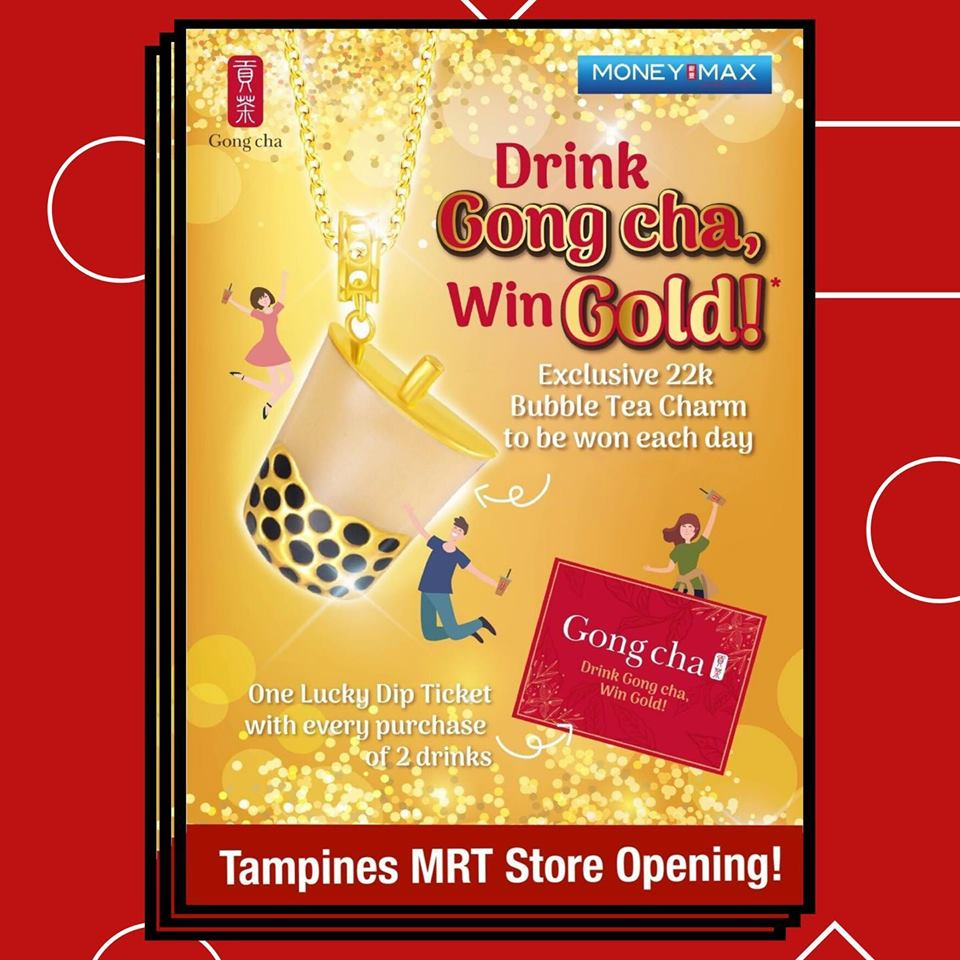 Gong Cha Singapore Tampines MRT Store Opening Buy 1 Get 1 FREE Promotion 12-14 Sep 2019 | Why Not Deals & Promotions