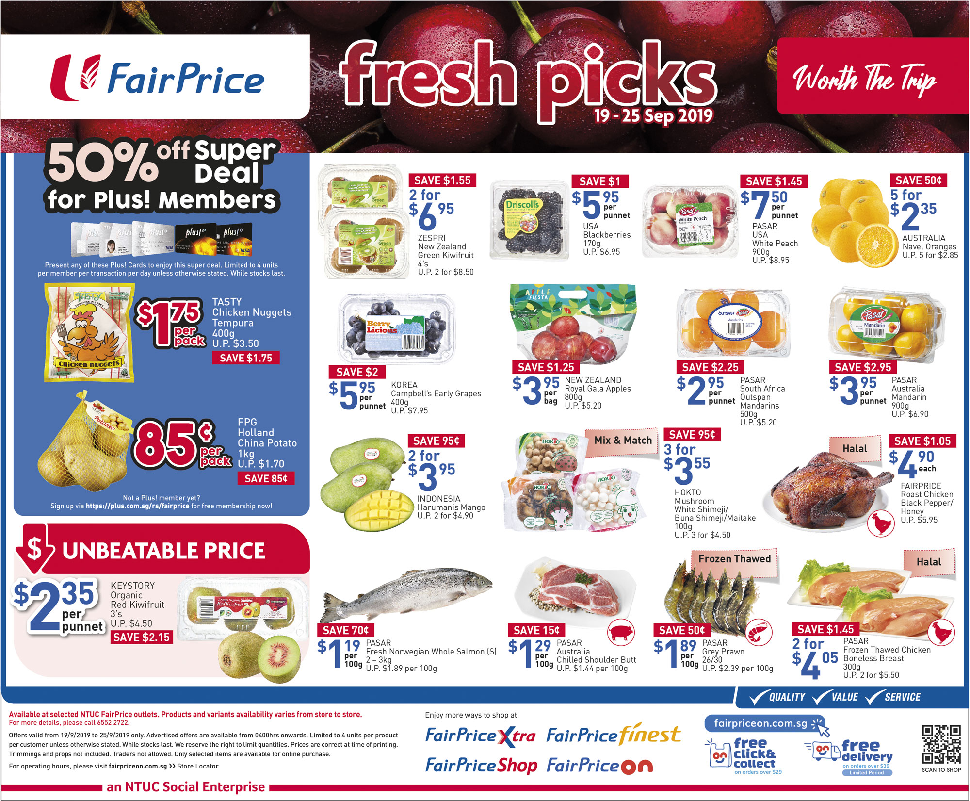 NTUC FairPrice Singapore Your Weekly Saver Promotion 19-25 Sep 2019 | Why Not Deals 3 & Promotions