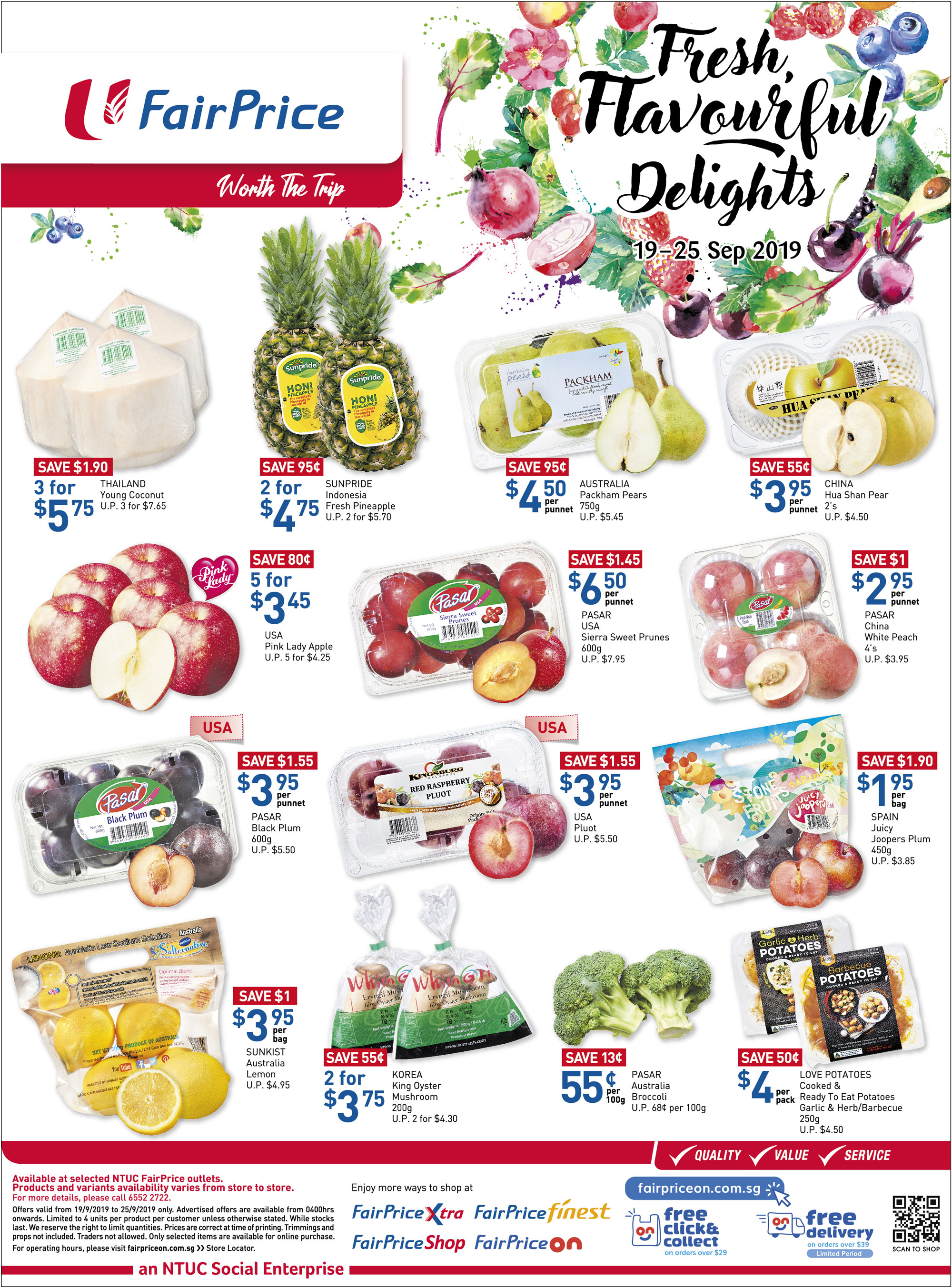 NTUC FairPrice Singapore Your Weekly Saver Promotion 19-25 Sep 2019 | Why Not Deals 4 & Promotions