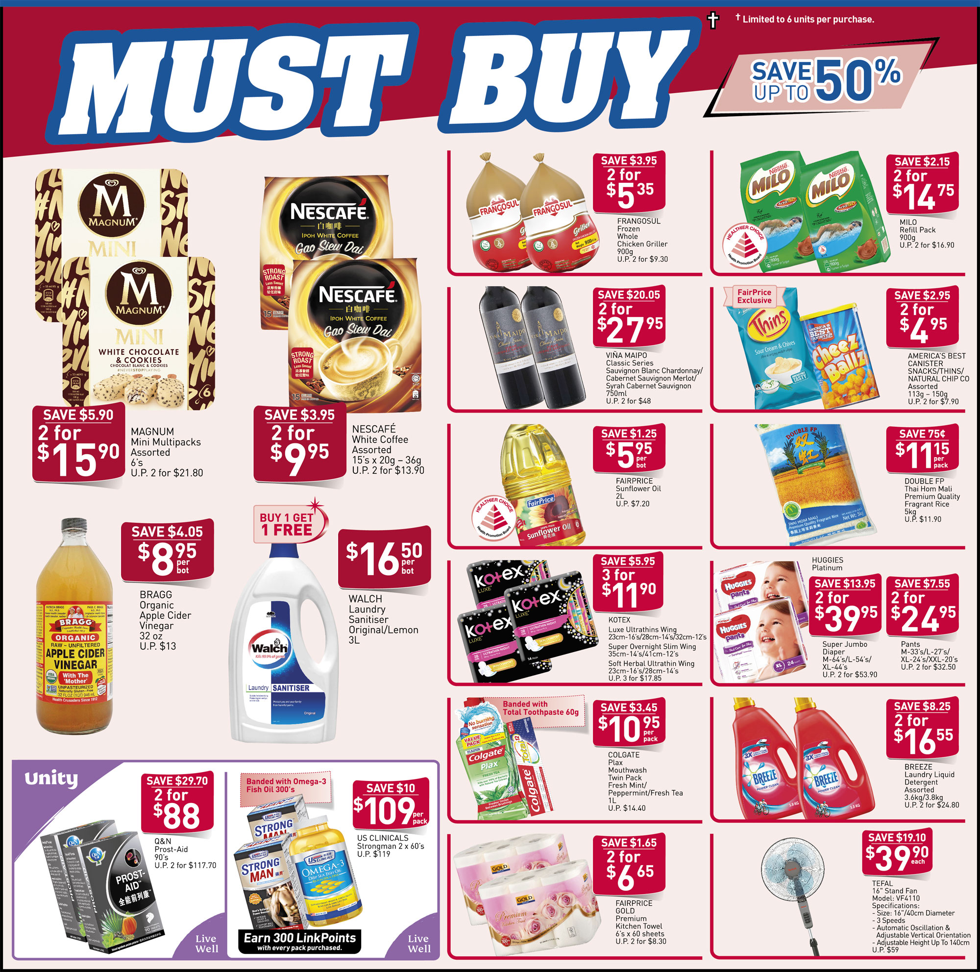 NTUC FairPrice Singapore Your Weekly Saver Promotion 19-25 Sep 2019 | Why Not Deals 6 & Promotions