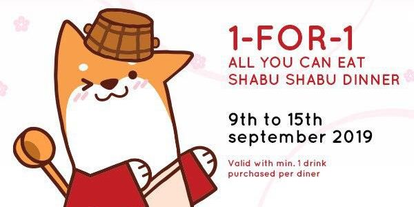 SUKI-YA Singapore 1-for-1 All You Can Eat Shabu Shabu Dinner Promotion 9-15 Sep 2019   Why Not Deals 1 & Promotions