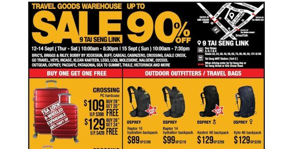 The Planet Traveller Singapore Warehouse Sales Up to 90% Off Promotion 12-15 Sep 2019 | Why Not Deals 1 & Promotions