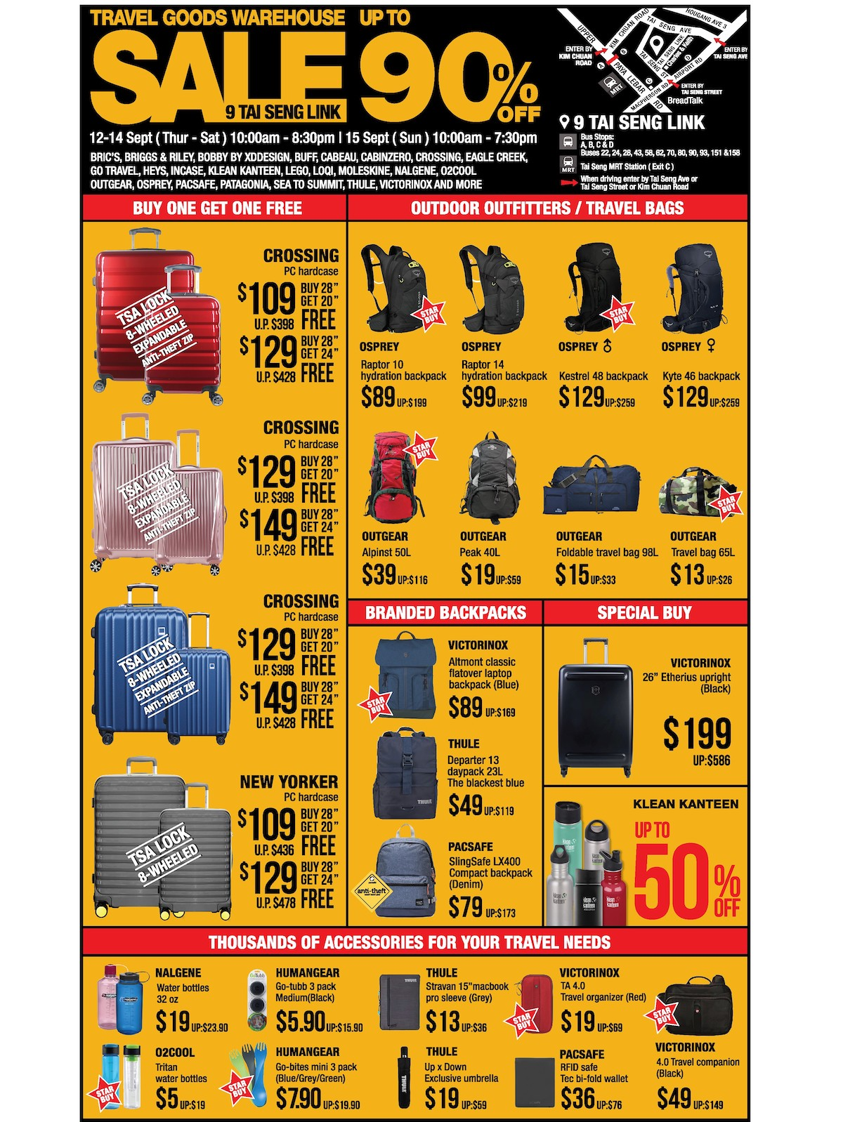 The Planet Traveller Singapore Warehouse Sales Up to 90% Off Promotion 12-15 Sep 2019 | Why Not Deals & Promotions