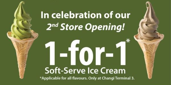 108 Matcha Saro Singapore 1-for-1 Soft Serve Ice Cream Promotion 8-10 Oct 2019 | Why Not Deals 1 & Promotions