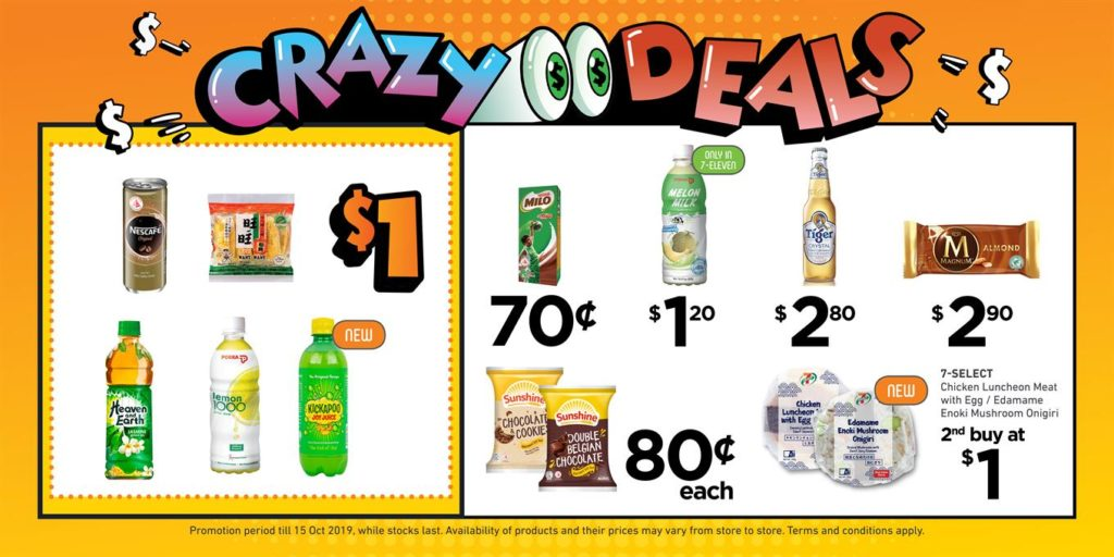 7-Eleven Singapore Crazy Deals Promotion from 2-15 Oct 2019 | Why Not Deals 1