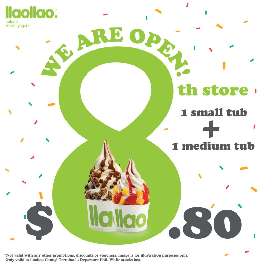 llaollao Singapore 8th Store Opening $8.80 Promotion 7-9 Oct 2019 | Why Not Deals