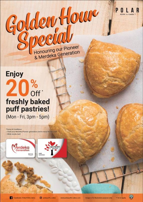 Polar Puffs & Cakes Singapore Flash Merdeka/Pioneer Card & Get 20% Off Promotion While Stocks Last | Why Not Deals