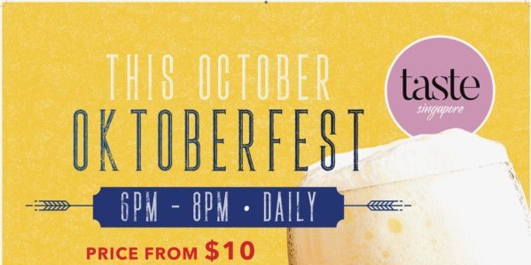 Taste Singapore Oktoberfest FREE-Flow Beer Promotion 10-31 Oct 2019 | Why Not Deals 1 & Promotions