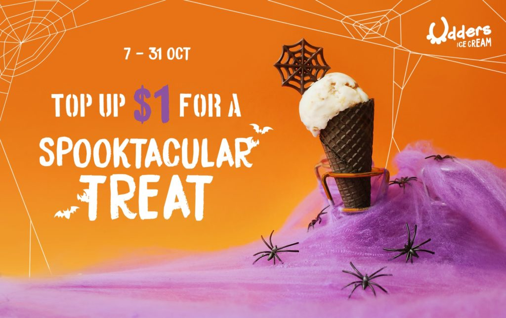Udders Ice Cream Singapore Top Up $1 For A Spooktacular Treat Promotion 7-31 Oct 2019 | Why Not Deals