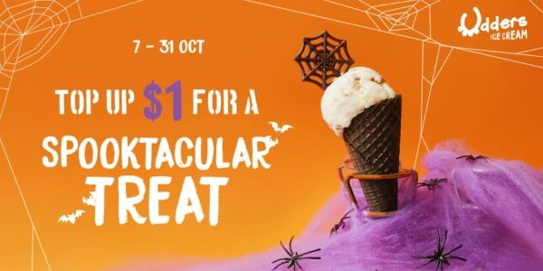 Udders Ice Cream Singapore Top Up $1 For A Spooktacular Treat Promotion 7-31 Oct 2019 | Why Not Deals & Promotions