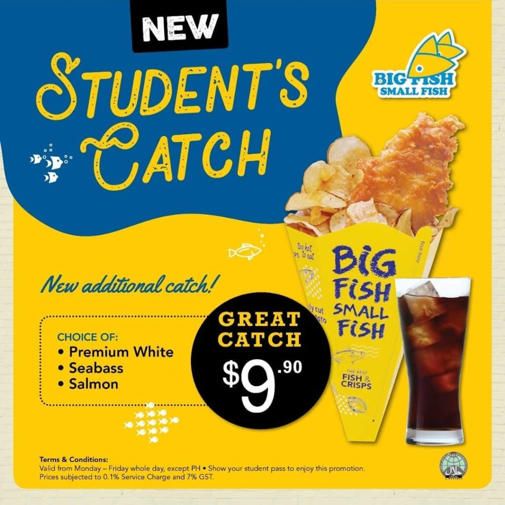 Big Fish Small Fish Singapore Student's Catch at Only $9.90 Flash Student Pass to Enjoy Promotion | Why Not Deals